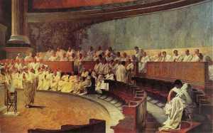Senado Romano e Marco Túlio Cícero